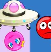 Игра Красный шар 6 спасает любимую