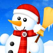 Игра Лепим Снеговика - картинка
