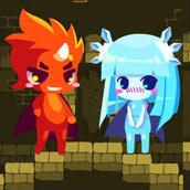 Игра Огонь и вода в стиле аниме - картинка