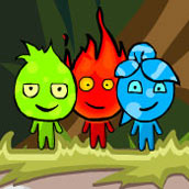 Игра Огонь вода и земля в джунглях на троих