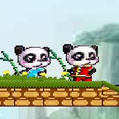 Игра Панды: огонь и вода