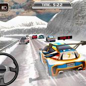 Игра Зимние гонки по снегу