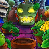 Игра Зомби против растений 10
