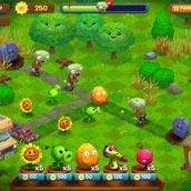 Игра Зомби против растений на воде - картинка
