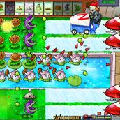 Игра Зомби против растений:  выживание в бассейне