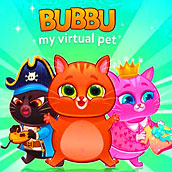 Игра Мультик котик Bubbu