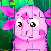 Игра Пазлы для детей 3 лет с Лунтиком - картинка