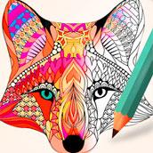 Игра Раскраски антистресс: Животные