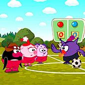 Игра Смешарики и футбол на двоих