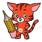 Игра Раскрась кошку - картинка