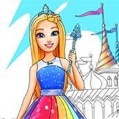 Игра Раскраска Барби для девочек 6 лет - картинка