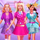 Игра Барби в школе