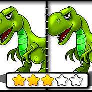 Игра Динозавры: найди отличия - картинка