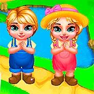 Игра Ферма двух близняшек