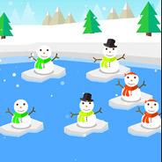 Игра Сбивать снеговиков