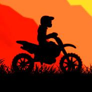 Игра Гонки на мотоциклах на закате