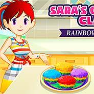 Игра Кухня Сары: радужные капкейки - картинка