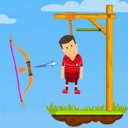 Игра Попади в веревку из лука