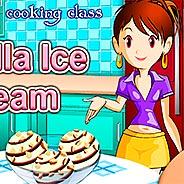 Игра Сара готовит ванильное мороженое - картинка