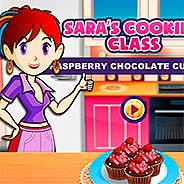 Игра Шоколадные капкейки с малиной - картинка