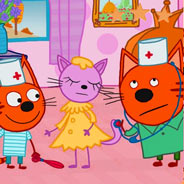 Игра Три кота у врача - картинка