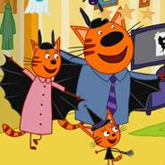 Игра Три кота в Хэллоуин