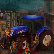 Игра Давим Зомби на Тракторе - картинка