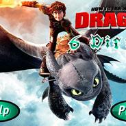 Игра Как Приручить Дракона: Найди 6 отличий - картинка