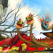 Игра Как Приручить Дракона: Раскраска - картинка
