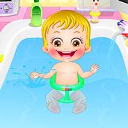 Игра Малышка Хейзел Купаемся в Ванной - картинка