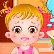 Игра Малышка Хейзел: Лечим Прыщики - картинка