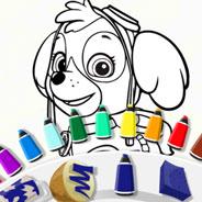 Игра Раскрась Скай из Щеничьего Патруля - картинка