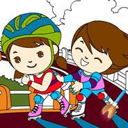 Игра Раскраска: Дети на Роликах - картинка