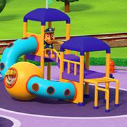 Игра Щенячий Патруль на игровой площадке