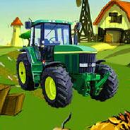 Игра Сумасшедший тракторист - картинка