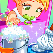 Игра Уборка в Детском Домике - картинка