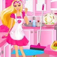 Игра Уборка в Домике Барби - картинка