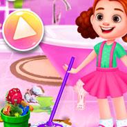 Игра Уборка в Кукольном Домике - картинка