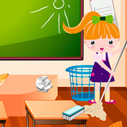 Игра Уборка в школе - картинка