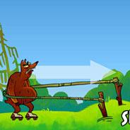 Игра Запуск Медведя на Роликах - картинка