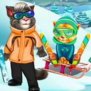 Игра Говорящий Кот Том: Зимнее Настроение