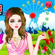 Игра Карусель для Девочек: Одевалка Куклы - картинка