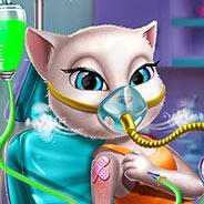 Игра Кошечка Анджела в Больнице