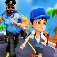 Игра Сабвей Серф: Убегать от Полицейского