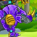 Игра Роботы Динозавры: Носорог - картинка