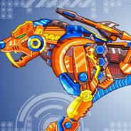 Игра Роботы Динозавры: Тигр - картинка
